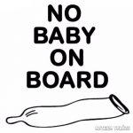 No Baby on Board autómatrica