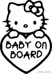 Hello Kitty Baby on Board autómatrica