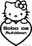 Hello Kitty Baba az autóban autómatrica