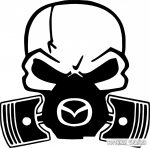 Mazda gázmaszkos matrica