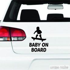 Baby on Board deszkás autómatrica
