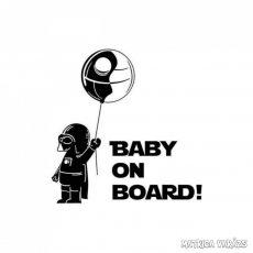 Baby on Board Darth Vader autómatrica