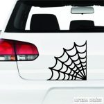 Sarokdísz pókháló matrica
