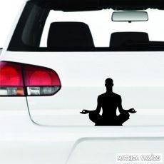 "Meditáló ember ""1"" matrica"